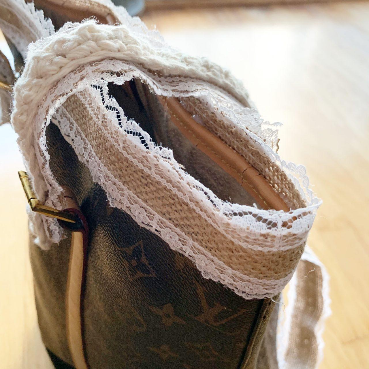 DIY: Upcycled LV Yarn Bag