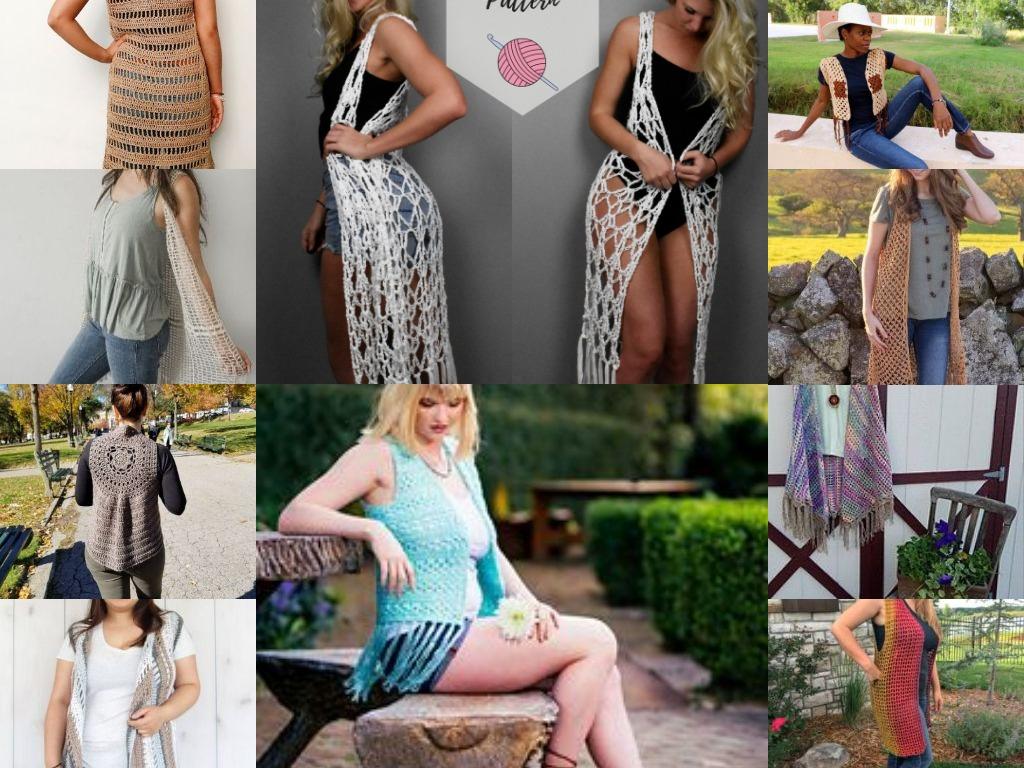 10 Boho Hippie Crochet Vests for Summer