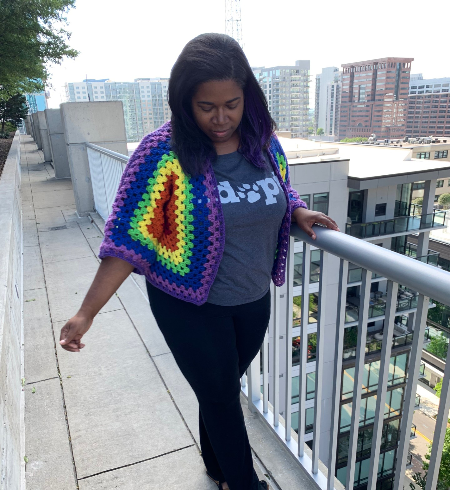 Crochet Rainbow Granny Cardi